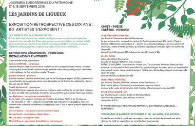 LES JOURNEES DU PATRIMOINE à LIGUEUX (24) - 17/18 SEPT 2016