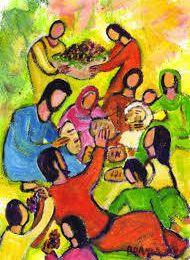 Contemplons avec Luc 9/10-17: fête du St sacrement année C