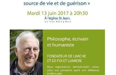Jean Vanier à Dole demain mardi