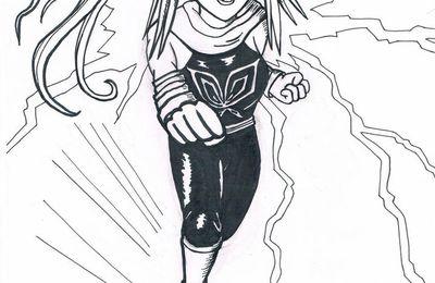 [dessin] Inktober 1 : fanart Yoruichi (Bleach)