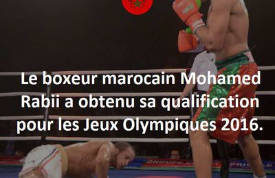 Mohamed Rabii aux JO 2016 à Rio.