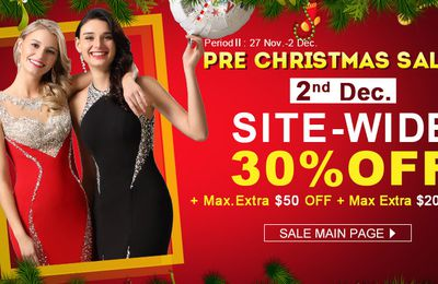 Superimposed Christmas Sale Dresses Save Your Budget