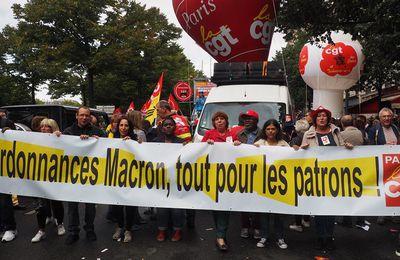 Retrait des ordonnances Macron: tract version courte, actualisé.