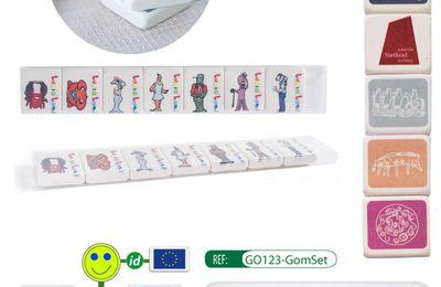 Set de 7 gommes en caoutchouc naturel - GO123-GomSet