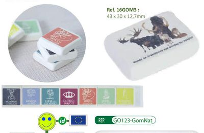 Collection de gommes en caoutchouc naturel - GO123-GomNat