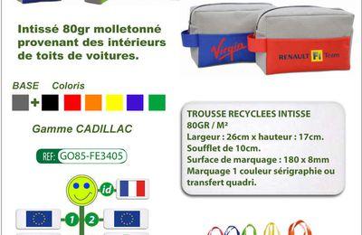 Trousse Cadillac en matière recyclée issue de l'industrie automobile de fabrication européenne - GO85-FE3405
