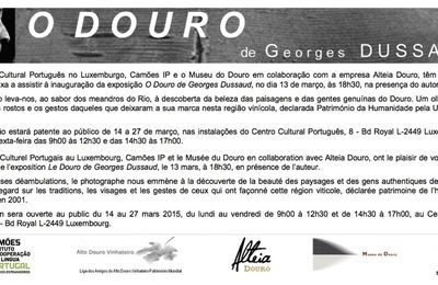 "EXPOSITION ""O DOURO à L'INSTITUT CAMÔES, LUXEMBOURG"