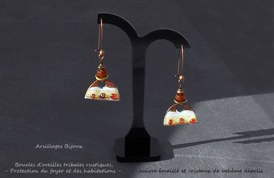Boucles oreilles tribales - Protection du foyer -