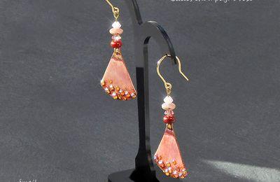 Boucles oreilles - Bulles de champagne rose -