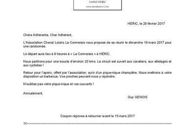 Rando à Héric (44) dimanche 19 mars 2017