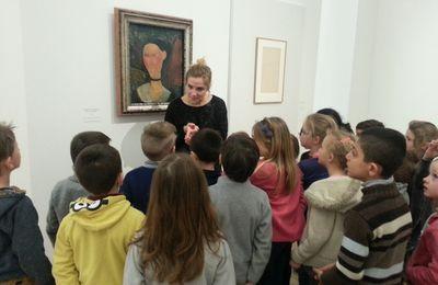 Ateliers des CP autour de l'exposition Amedeo Modigliani, l'œil intérieur