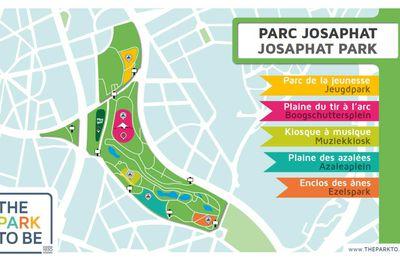 Le parc Josaphat au coeur de l'été