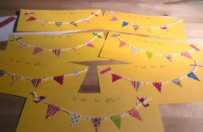 Invitations à fanions