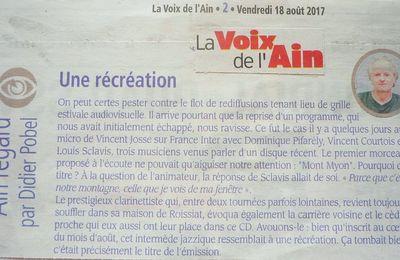 """Dans """"Voix de l'Ain"""""""