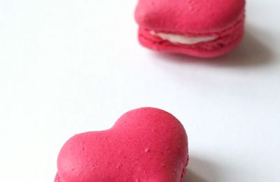 Macaron coeur à la groseille