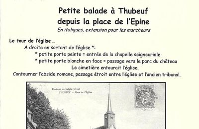 Infos Patrimoine n°5 : Petite balade à Thubeuf...