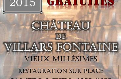 PORTES OUVERTES - Visites et dégustation gratuite ! CHATEAU DE VILLARS FONTAINE