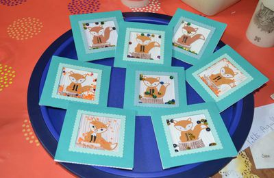 STAMPIN'UP ATELIER CARTE A SECOUER FOXY FRIENDS