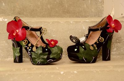 Customisation de mes chaussures de mariee