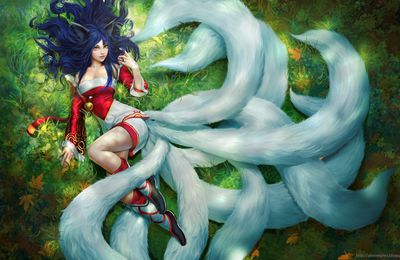 Ahri LOL by Alex Negrea