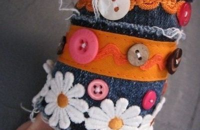 Les bracelets manchettes en jeans recyclé : ze lubie!