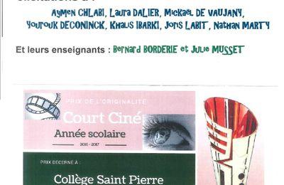 "RECOMPENSE COURT CINE  ""LE REGARD"""