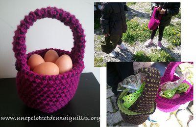 Tricoter un panier
