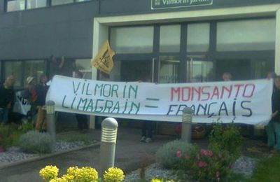 Contre l'appropriation de nos semences : La Conf' occupe Vilmorin-Limagrain !