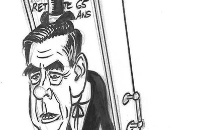 François Fillon en croque-mort de Lucky Luke