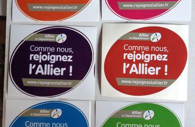 GOODIES reçus : Stickers du département de l'Allier