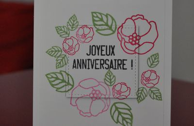 Carte d'anniversaire - Carte éclipse et set Douces notes