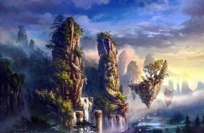 La Terre est surmontée de plusieurs royaumes de paix et d'amour