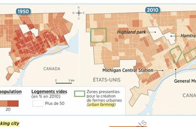 La ville de Détroit : une ville qui rétrécit