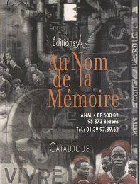 BON DE COMMANDE livres Edition Au Nom de la Mémoire