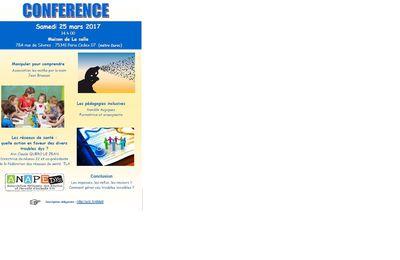 Conférences ANAPEDYS  (pour info)
