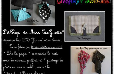 Give-Away, boutique ALM et un déménagement en vu