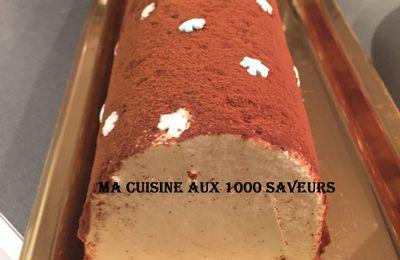 bûche vanille tonka et insert caramel au beurre salé