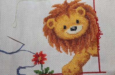 toise: petit lion terminé