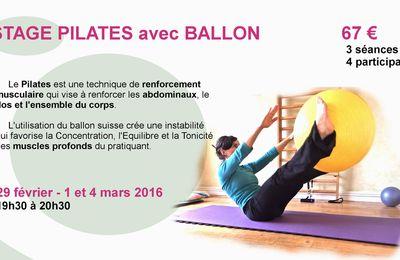 Stage de Pilates Ballon - fev 2016