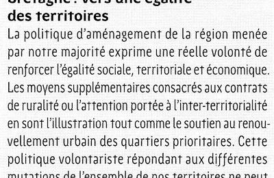 Egalité des territoires - Bretagne - Conseil régional - PRG
