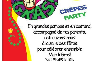 CREPES PARTY DE MARDI-GRAS