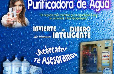 Invierte tu Dinero en una Purificadora de Agua