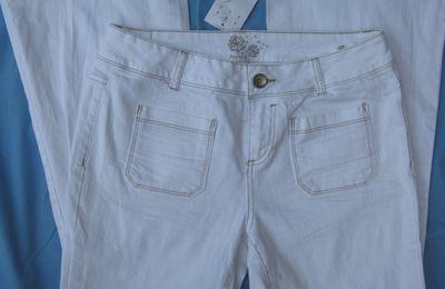 pantalon PROMOD VINTAGE 42 blanc neuf avec étiquette