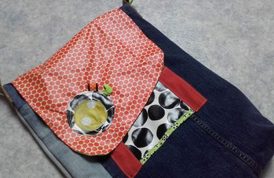 Upcycling jean: sac besace....