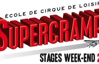 Stage Weekend et stages d'été avec l'école de cirque Supercrampe