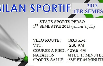 STATS SPORT PERSO 2015