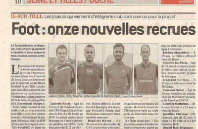 RECRUES IS SUR TILLE FOOT 2015 2016