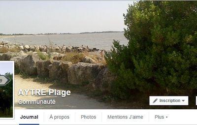 Une nouvelle page facebook pour mieux suivre l'actualité d'AYTRE Plage