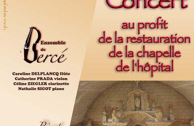 Un concert au profit de la rénovation de la chapelle de l'hôpital de Château du Loir