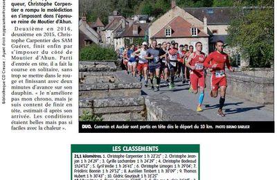 Mon histoire avec le semi-marathon de Moutier d'Ahun